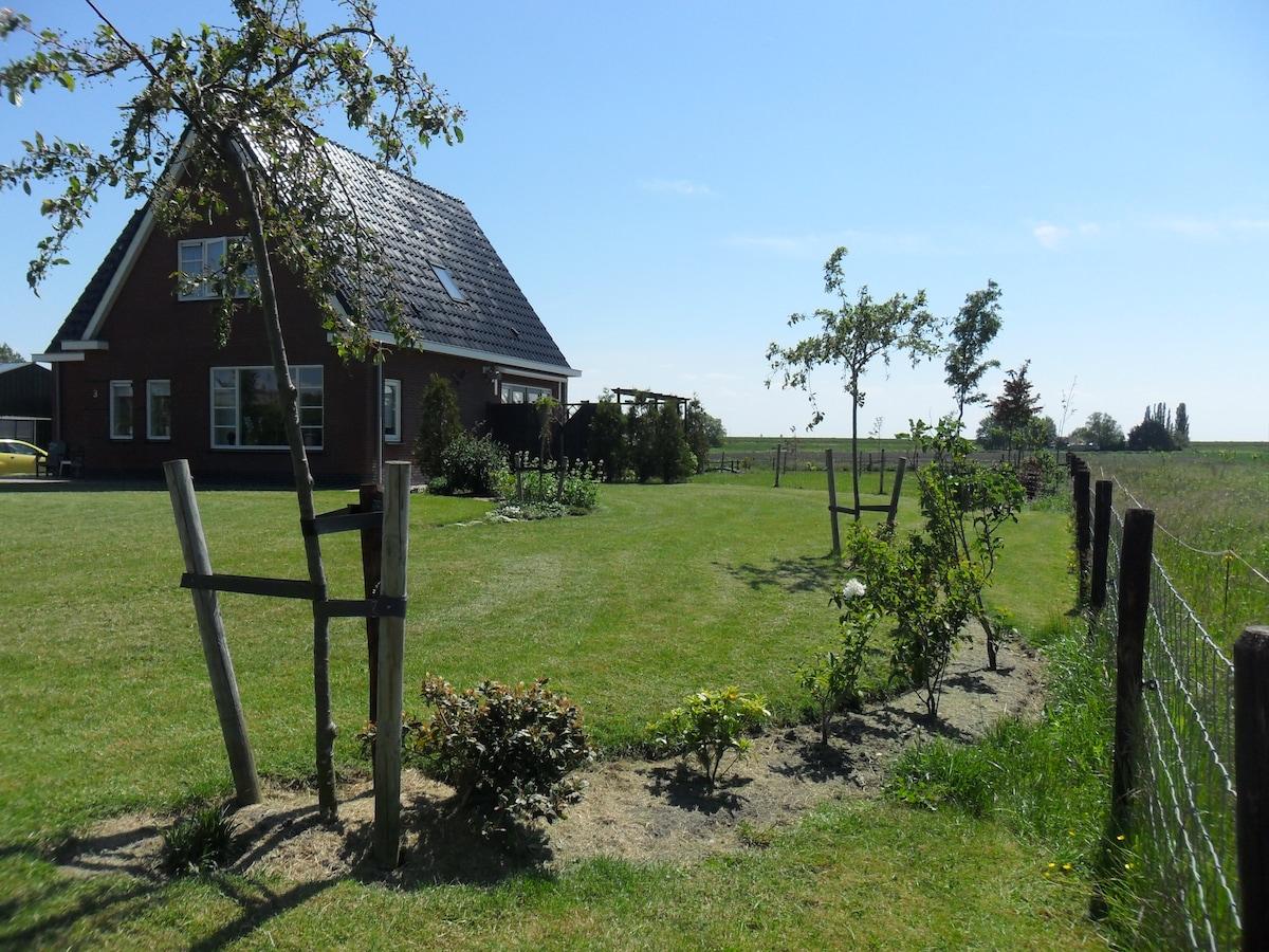 Country side near lake IJsselmeer