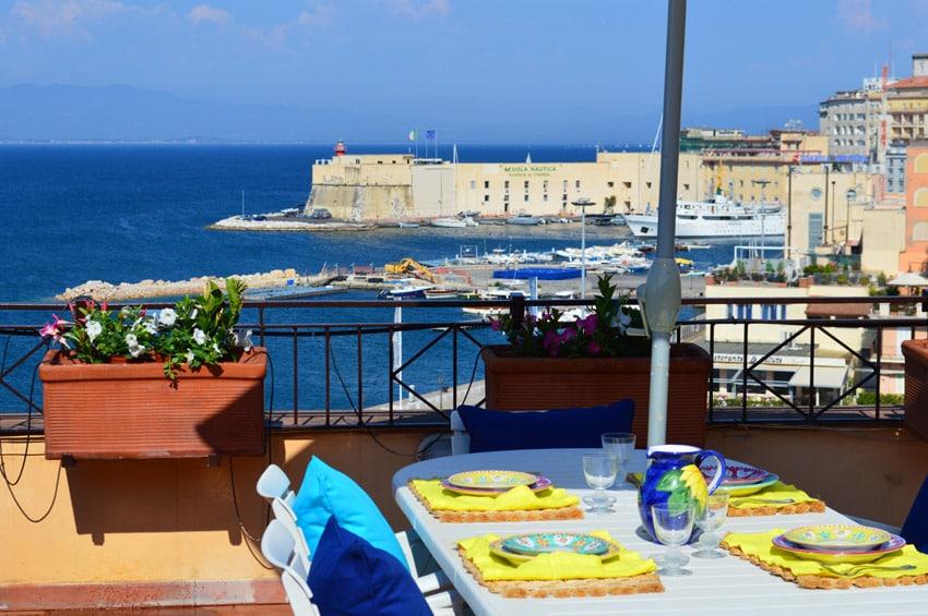 Blue mediterranean flat