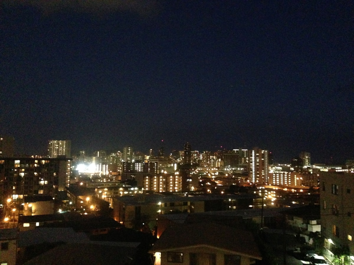 City lights from the lanai