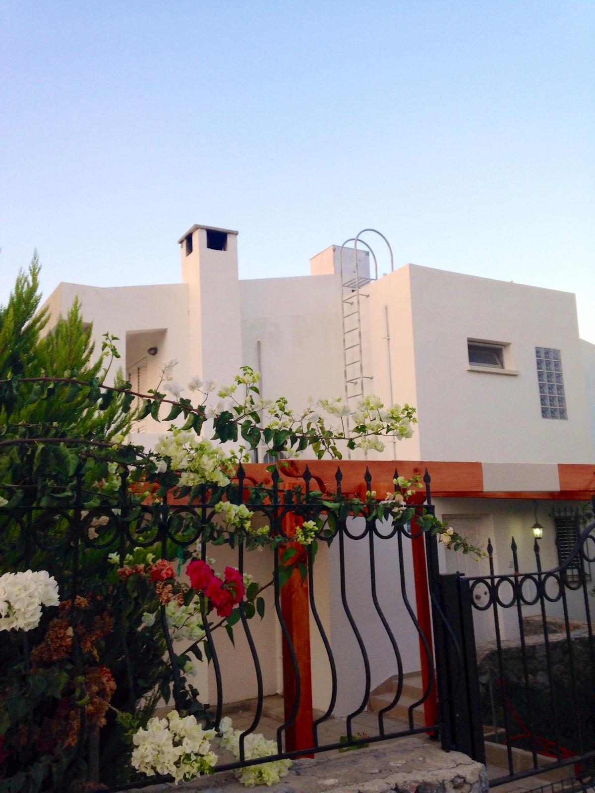 the villa front
