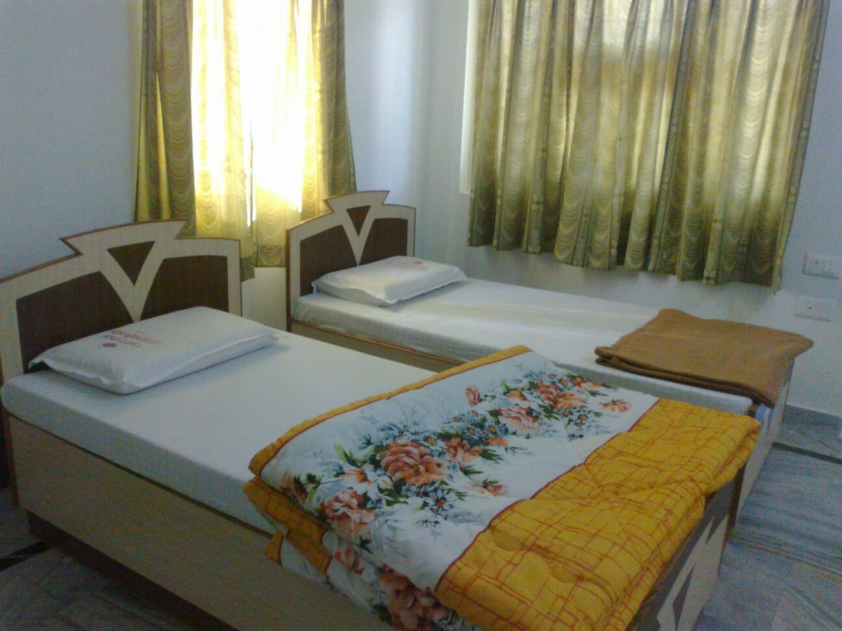 With attached bathroom, balcony..