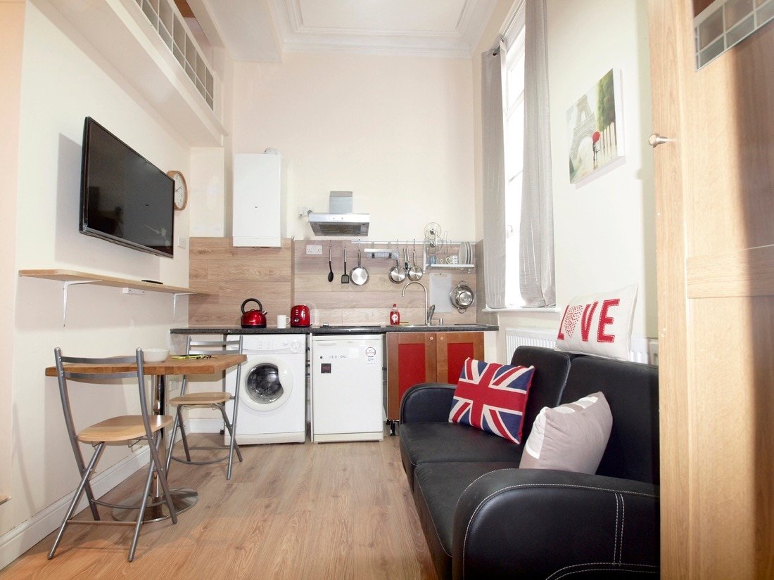 Studio Apartment with Loft Beds