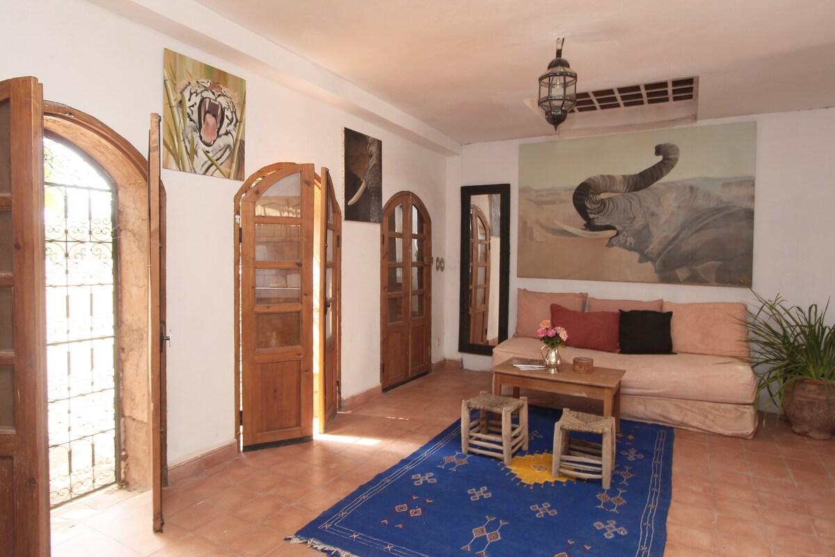 the painter's house, near Marrakech