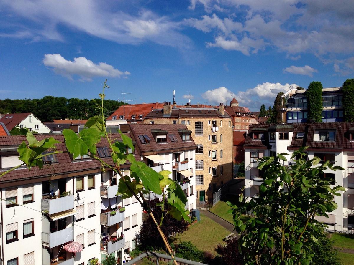 Gästezimmer nahe Schlossgarten