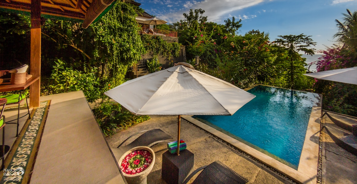 VIEW FROM YOUR VERANDA SEA AND POOLVIEW
