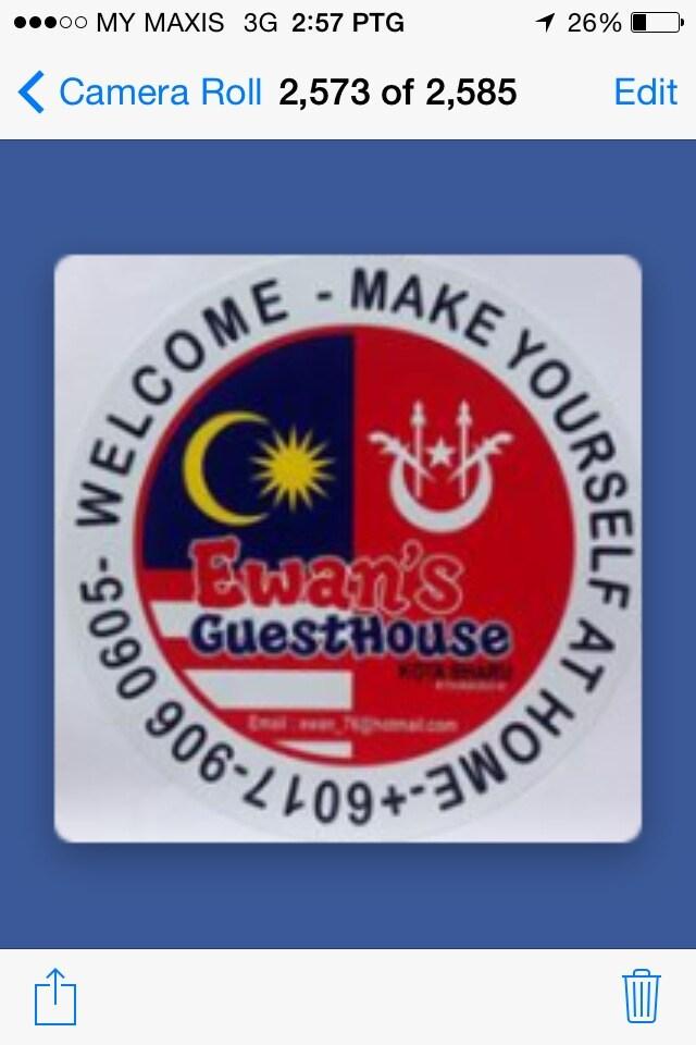 EWAN'S GUESTHOUSE   ( Since 2000 )