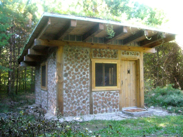 Cordwood Cabin on Off-Grid Retreat