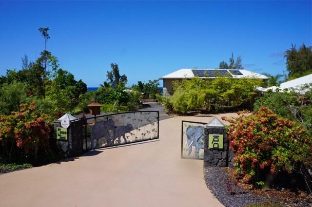 Elephant gate at entry to property. Paradise awaits!