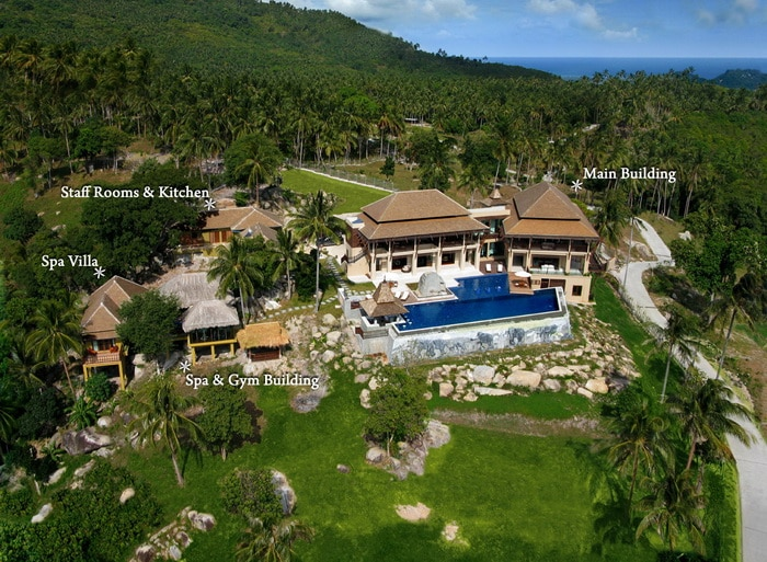 Ariel view of Samui Ridgeway Private Estate