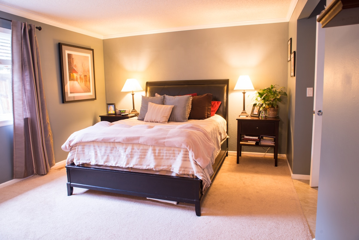 The Master Bed Room. This Room will only be available when the full home is rented