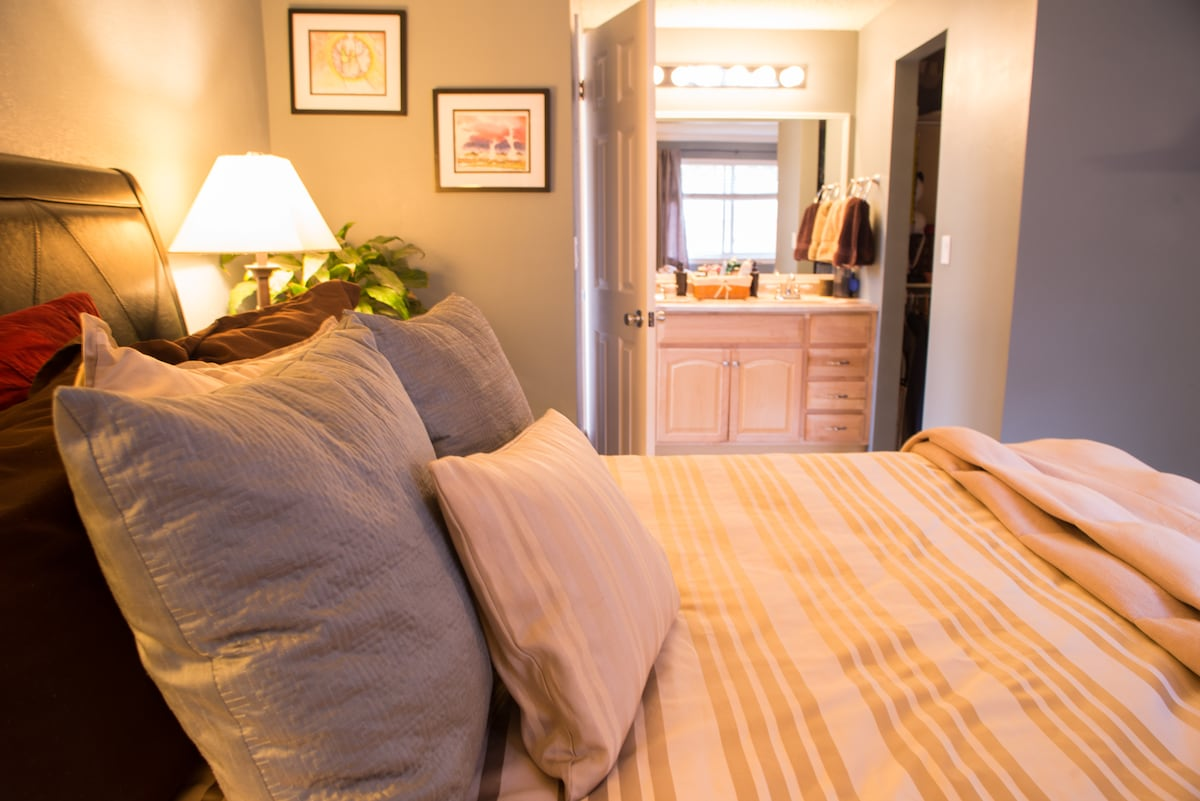Master Bedroom and Bathroom: Only available for full house rental