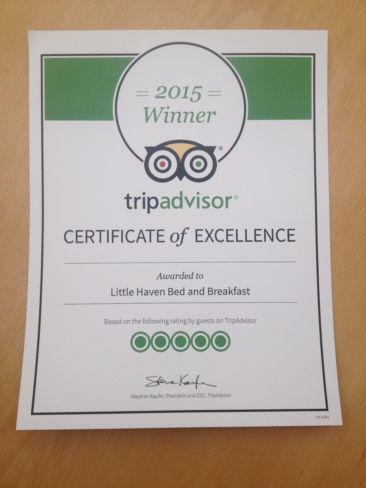 Award winning Bed and Breakfast