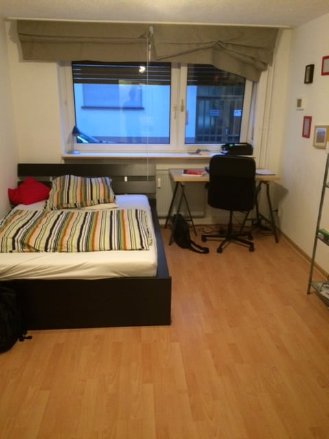 Room in a shared student flat.