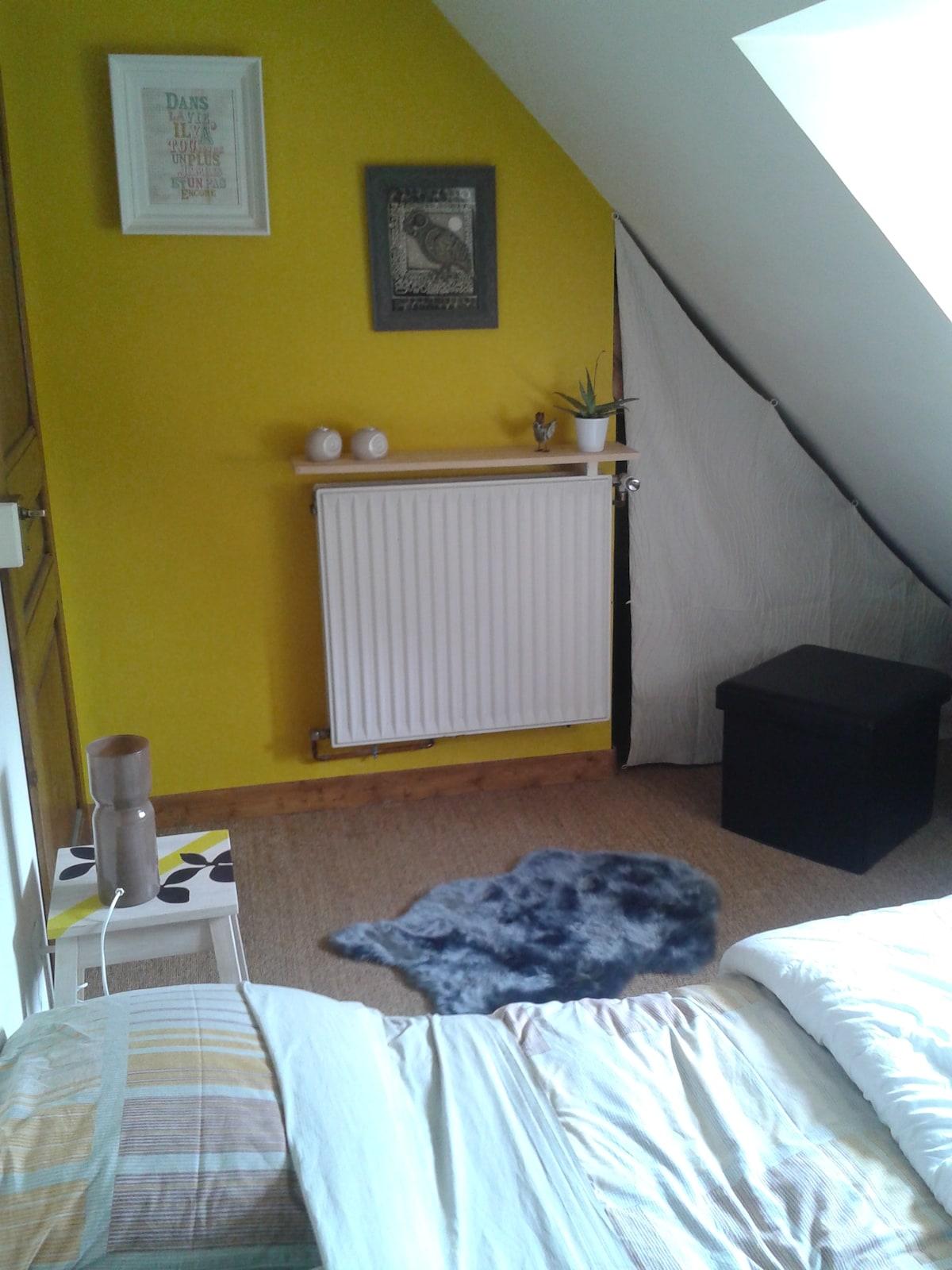 Jolie chambre sous les toits