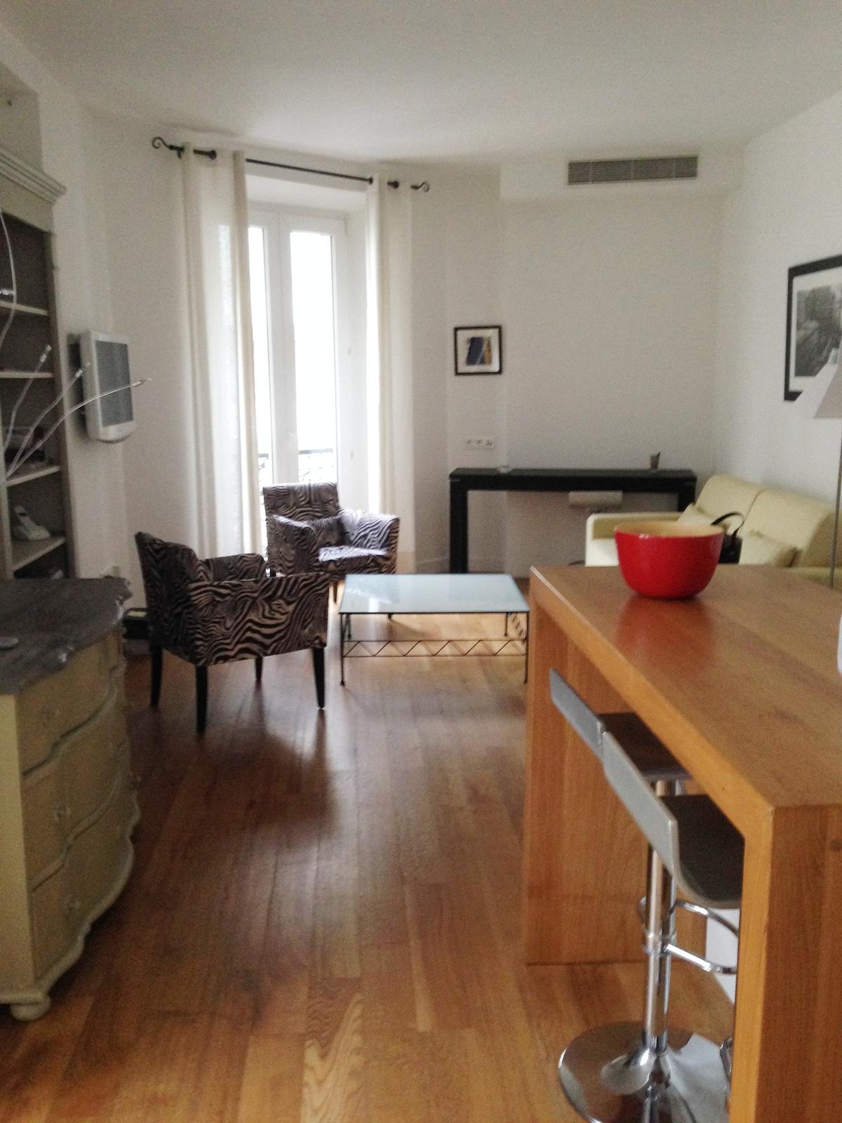 Appartement 37 m2 à 1 mn de la mer