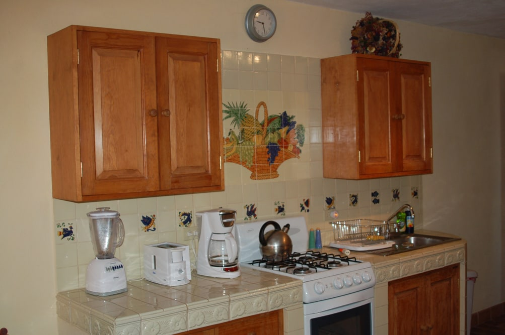 Fully equipped kitchen also with microwave & refrigerator (not shown)