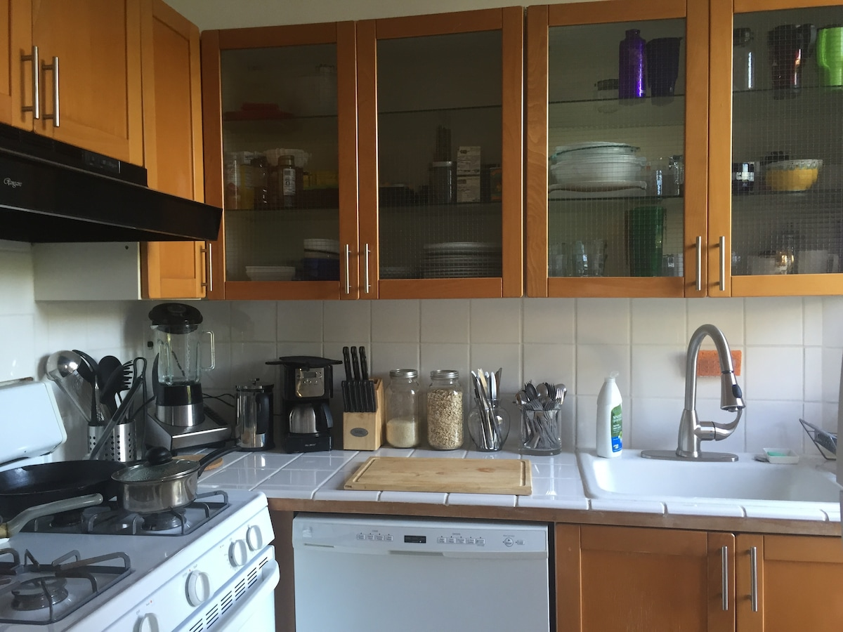 fully stocked kitchen for your use