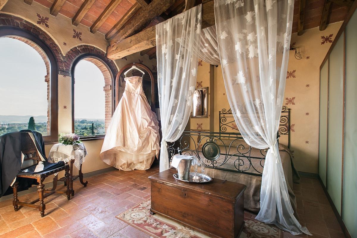 Dreamy room in rustic farmhouse