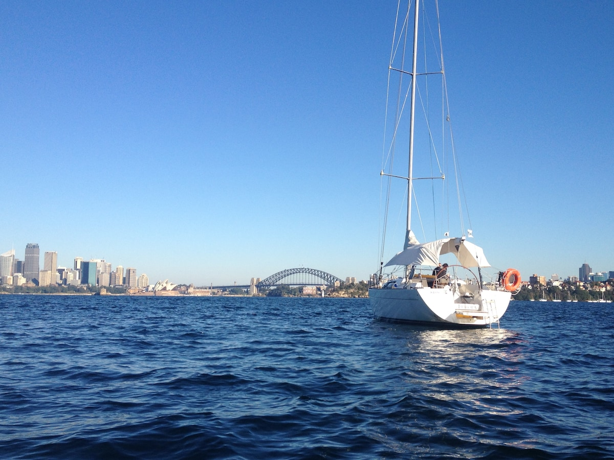 Wake up to a panorama of Sydney!  This is where the yacht is moored with the Taronga Zoo option.