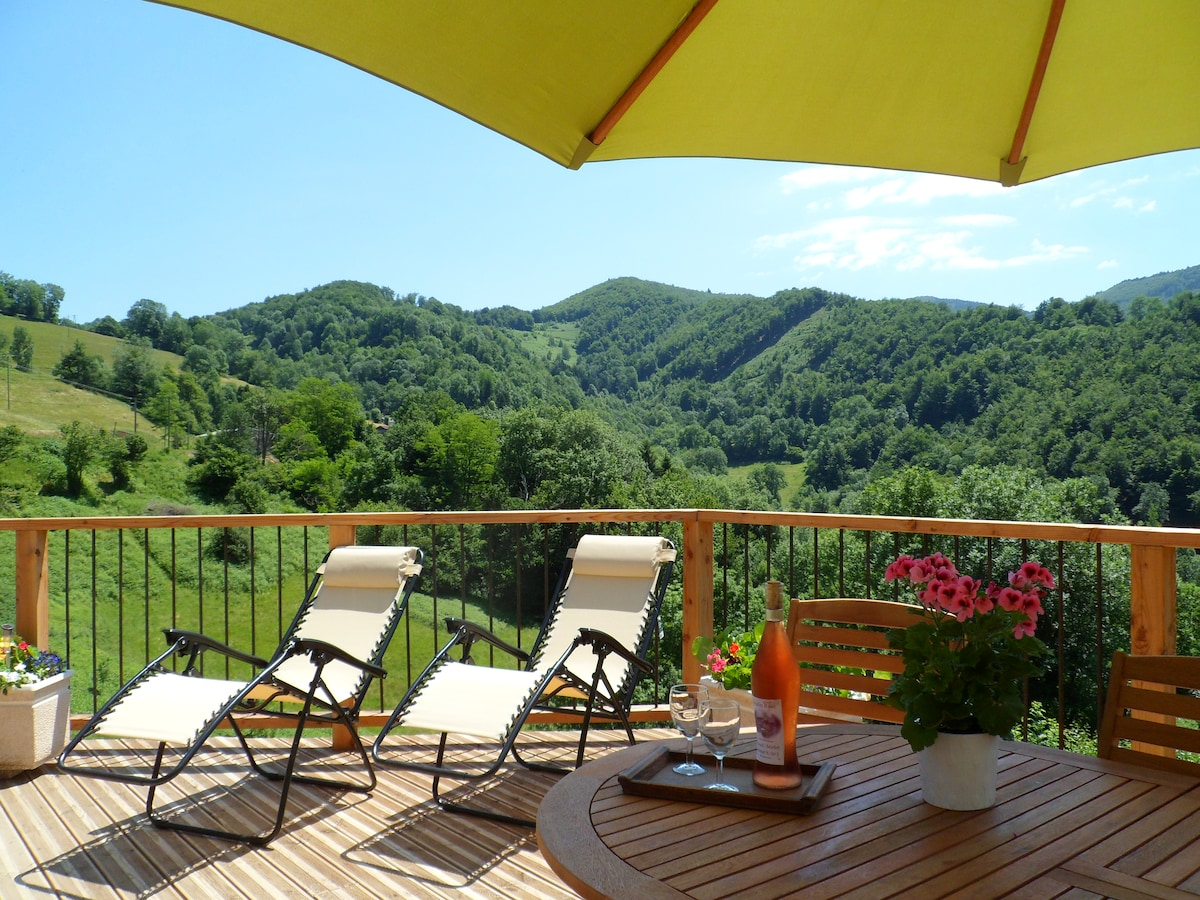 Beautiful gite with Panoramic views
