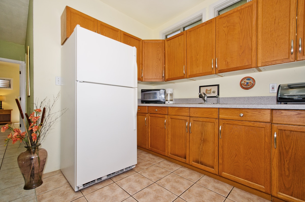 Kitchenette for quick meals.