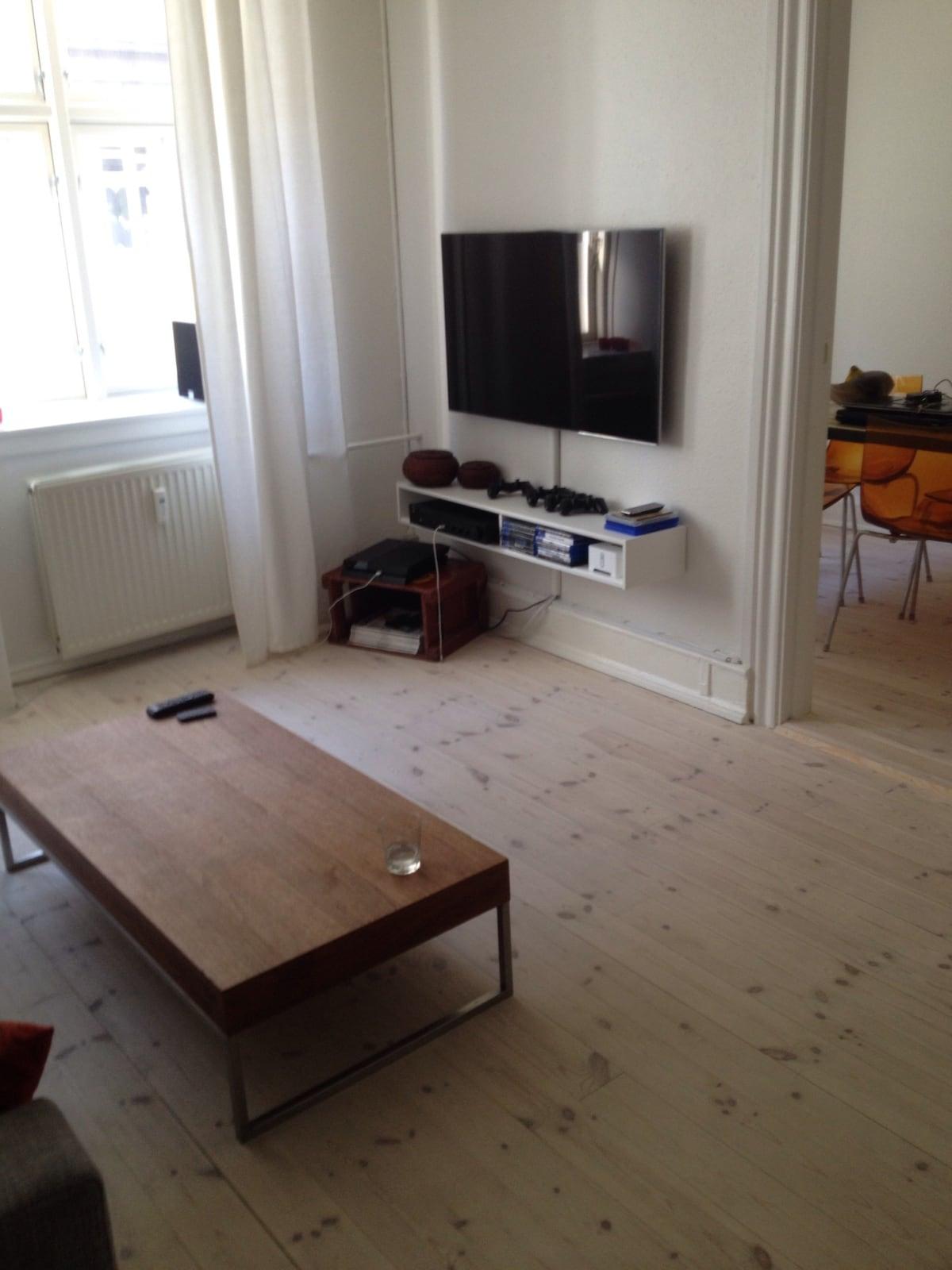Cozy 3 room apartment in Copenhagen