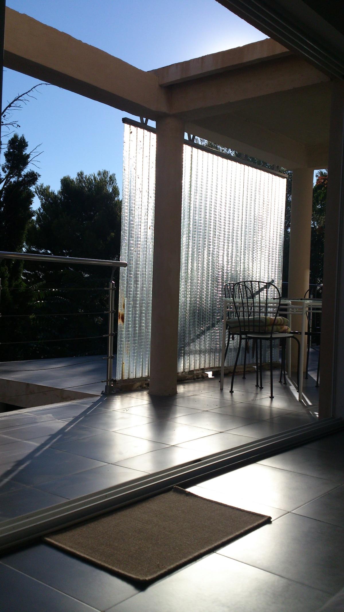 veranda space on the terraces
