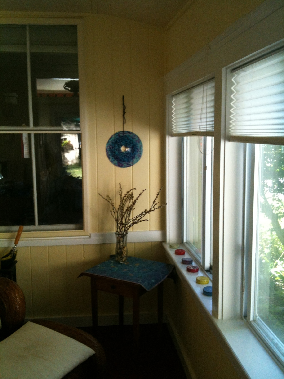 Another photo of the sunny mudroom