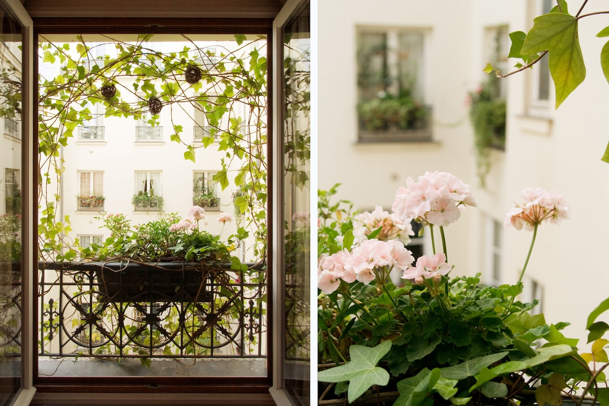 quiet and sweet in  heart of Paris