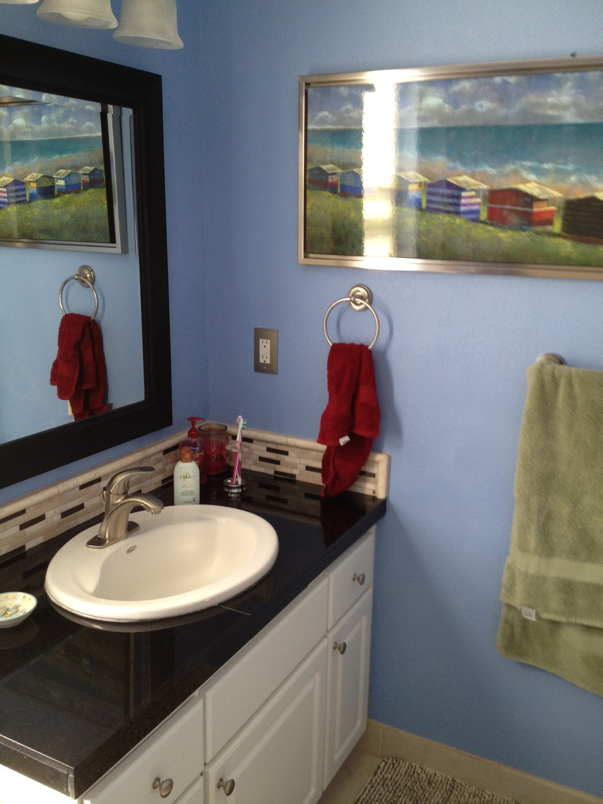 Private bath with shower and personal amenities provided