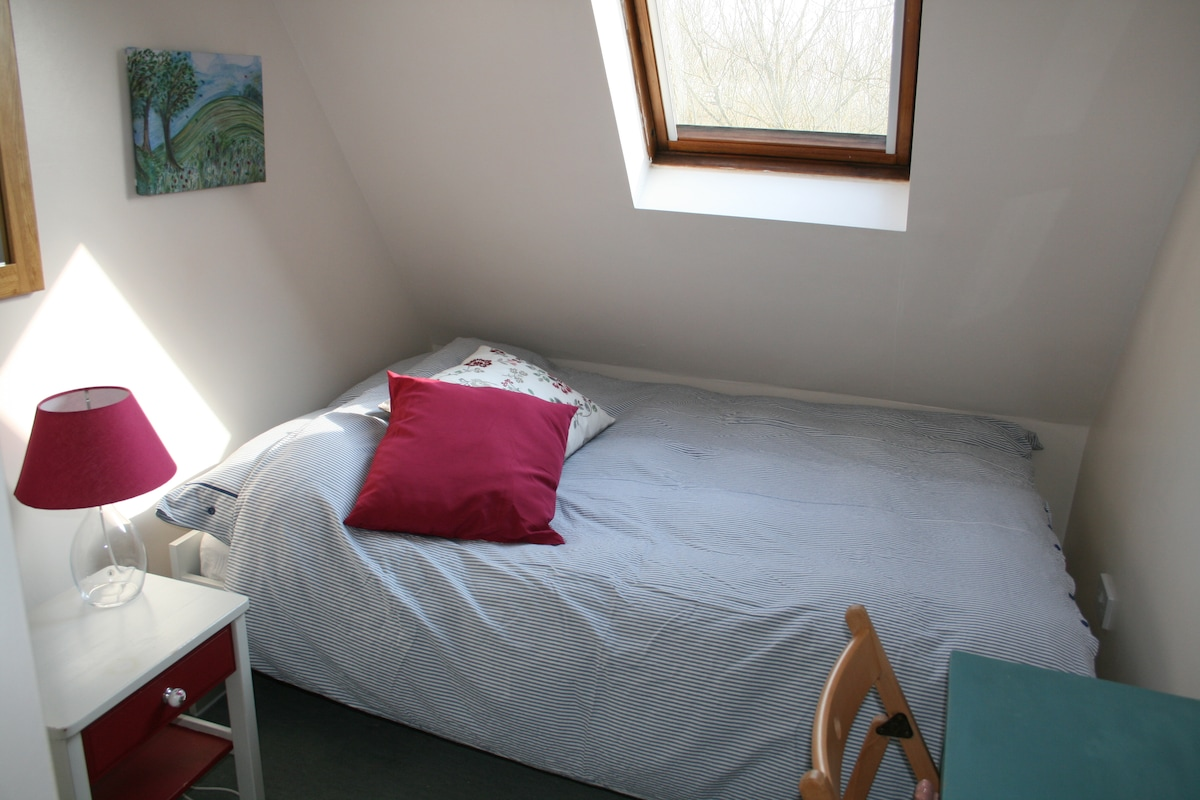 Sunny double room with lovely view