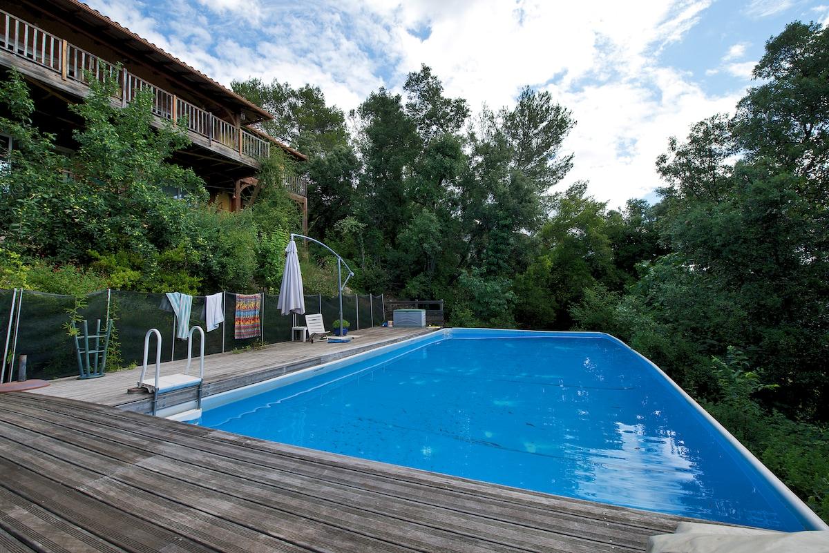 T2 50m2 avec piscine et terrasse