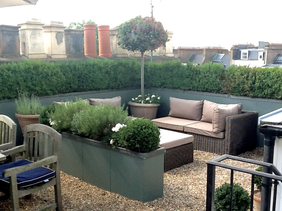Private Roof Terrace seating area with BBQ