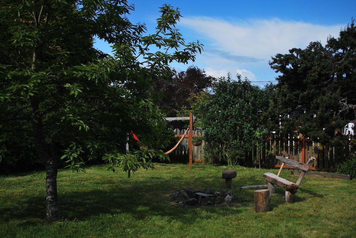 Backyard with firepit!