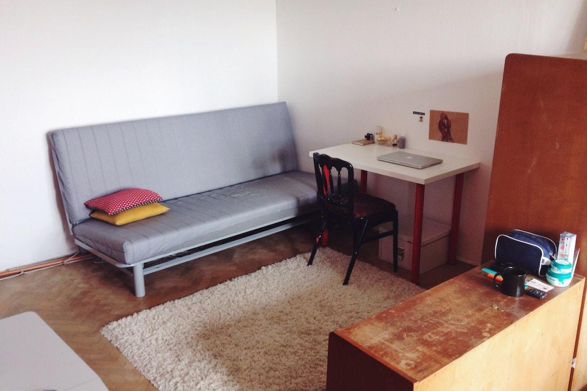 Cosy room in calm district of Plzen