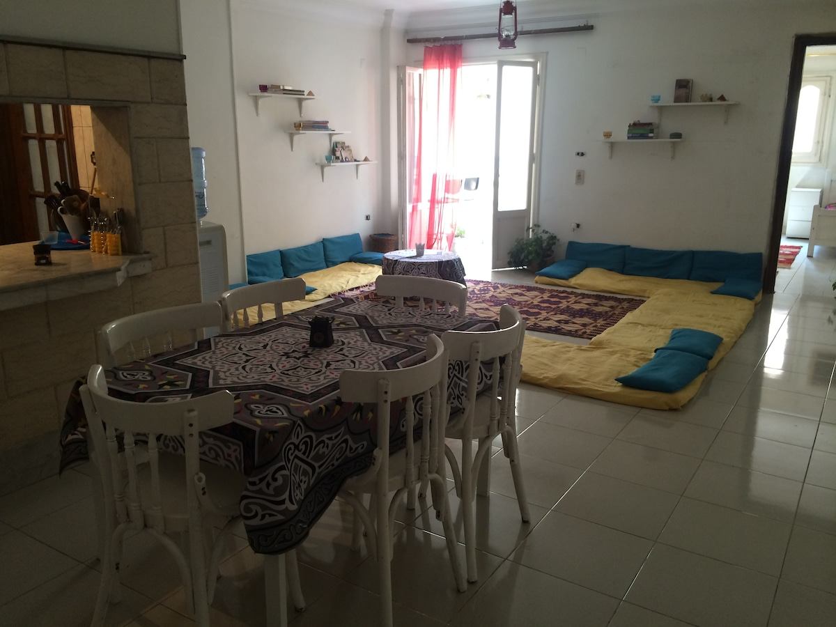 Rm#1 Bright, Central Flat in Maadi