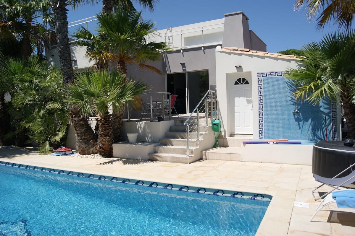chambre  2 personnes avec piscine