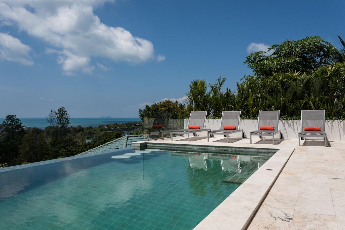 Stunning Villa Wa ocean view pool