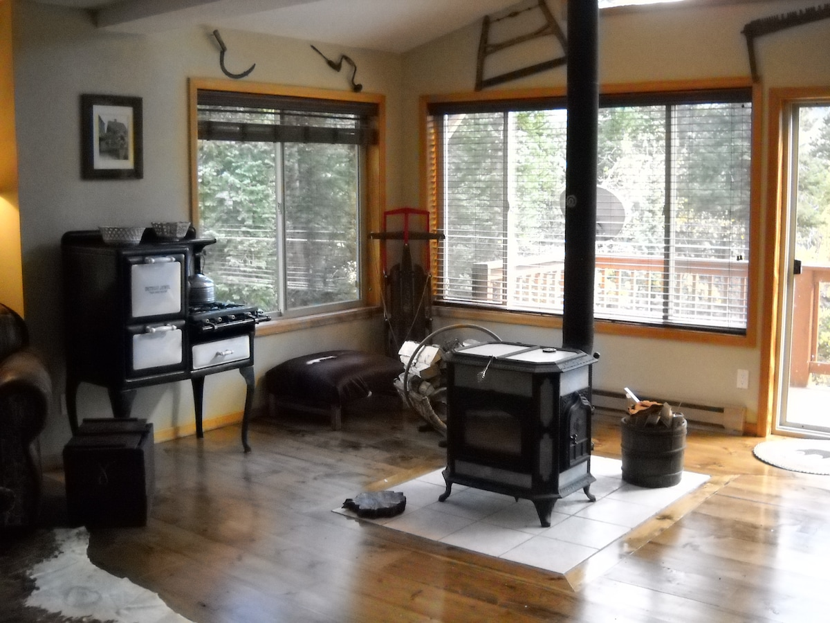 Expansive veiws of the mountains and down the valley- family room continued