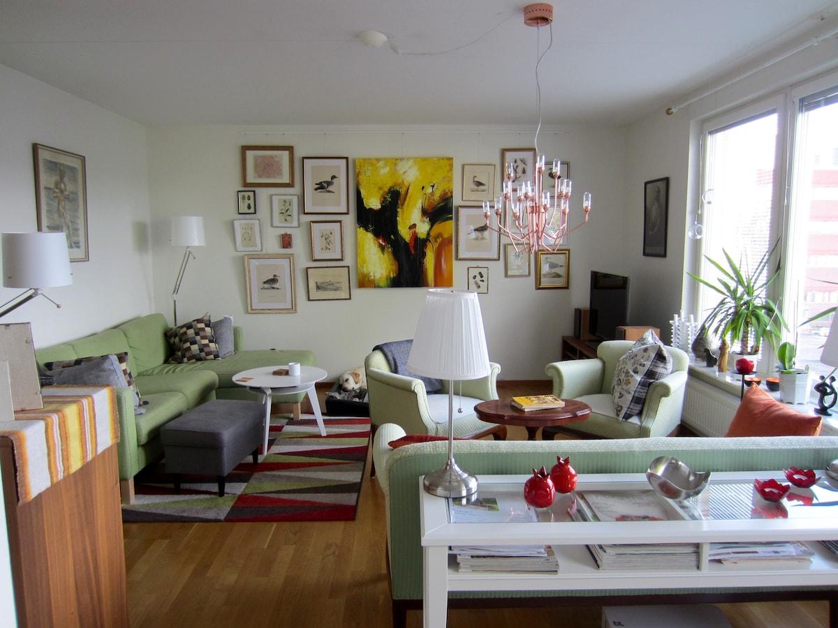 Modern flat in central Uppsala