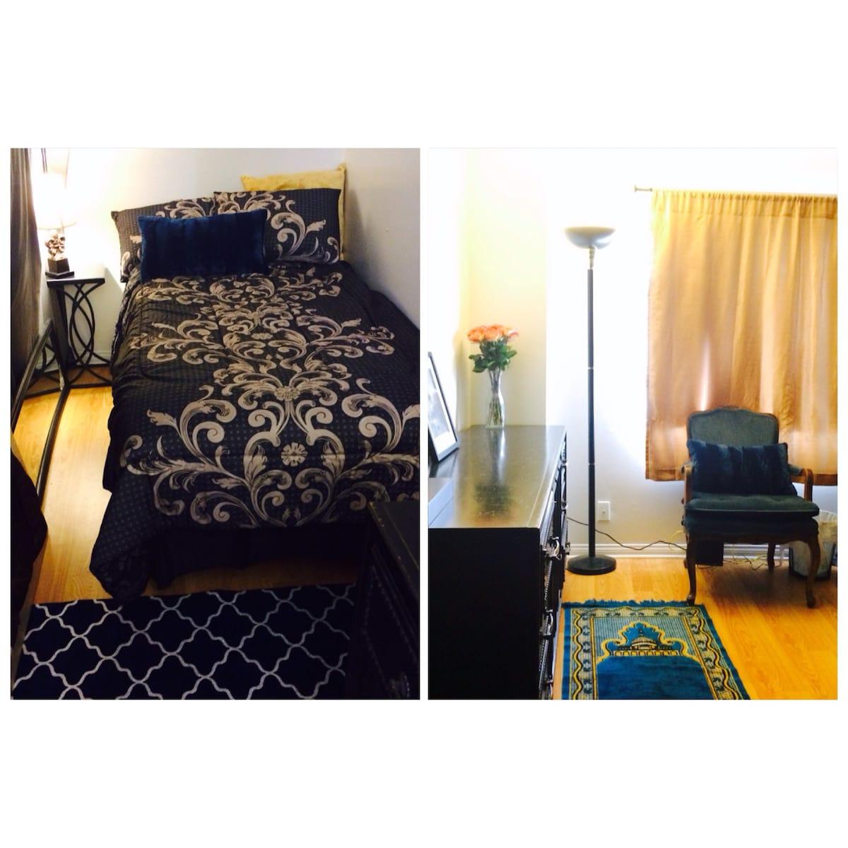 New elegant, comfy room