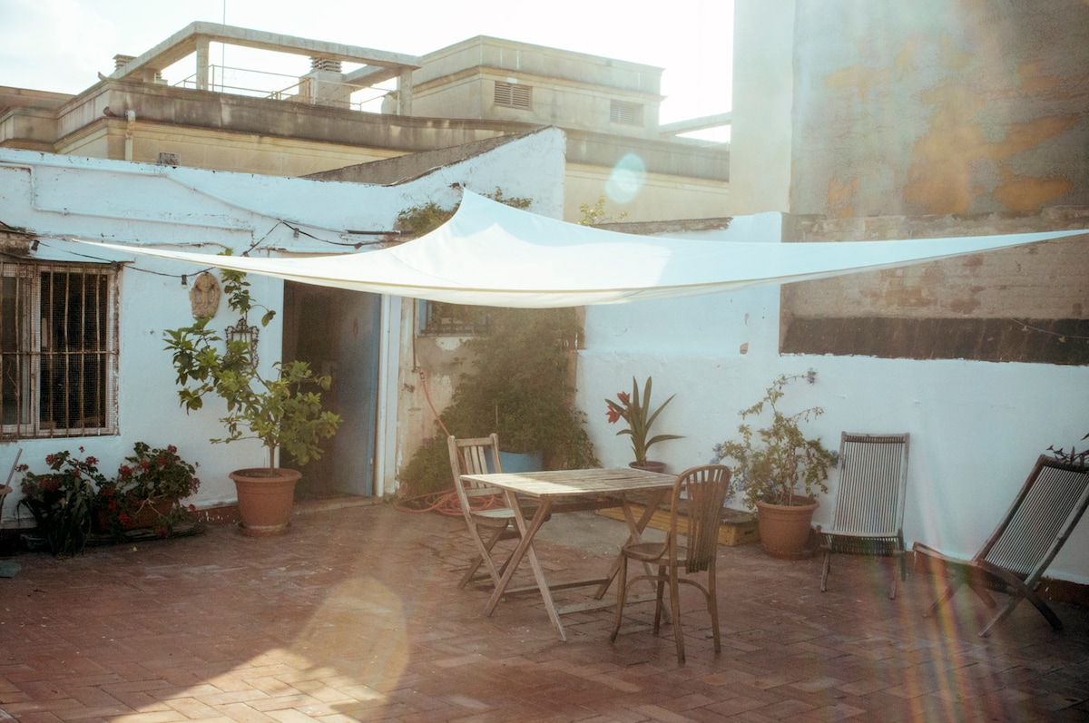 Penthouse with terrace in Raval