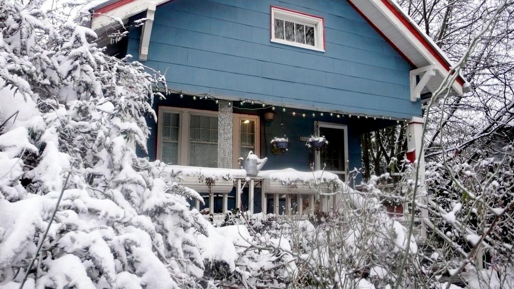 Sometimes it snows in Portland.