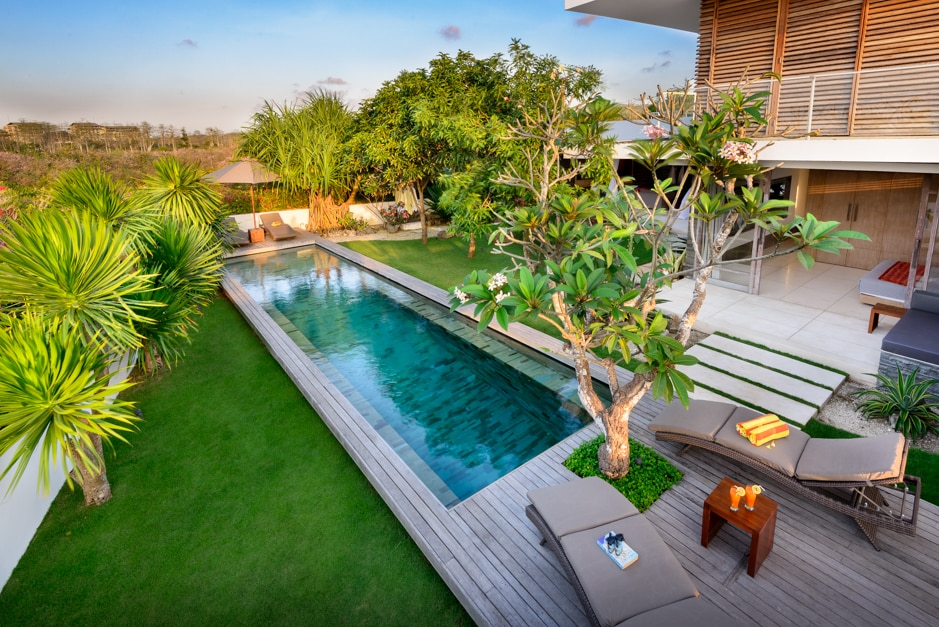 Spacious and private areas with a 15 metre pool and lounges.