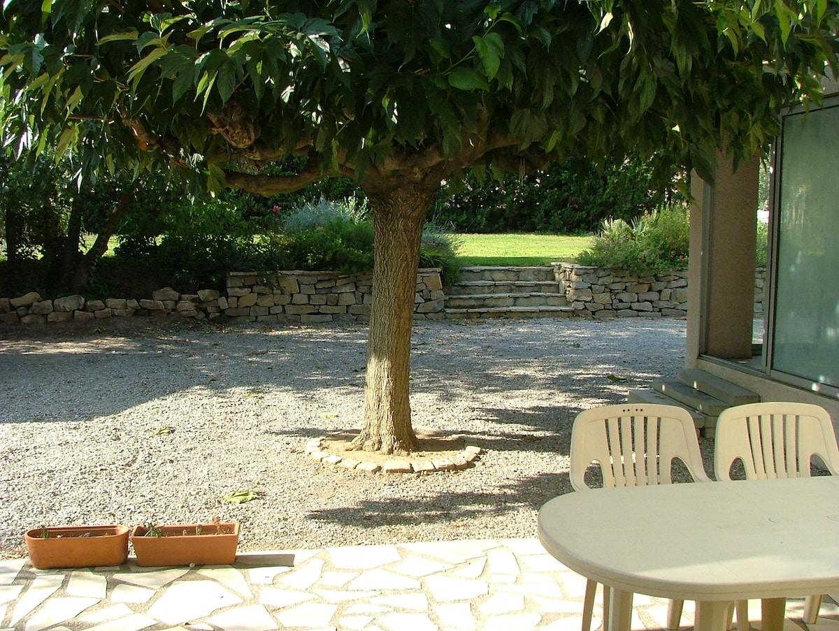 maison mitoyenne sur grand jardin