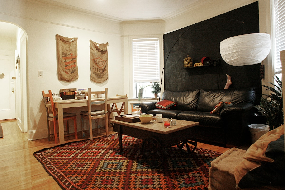 Artist's cute, eclectic 1-Br