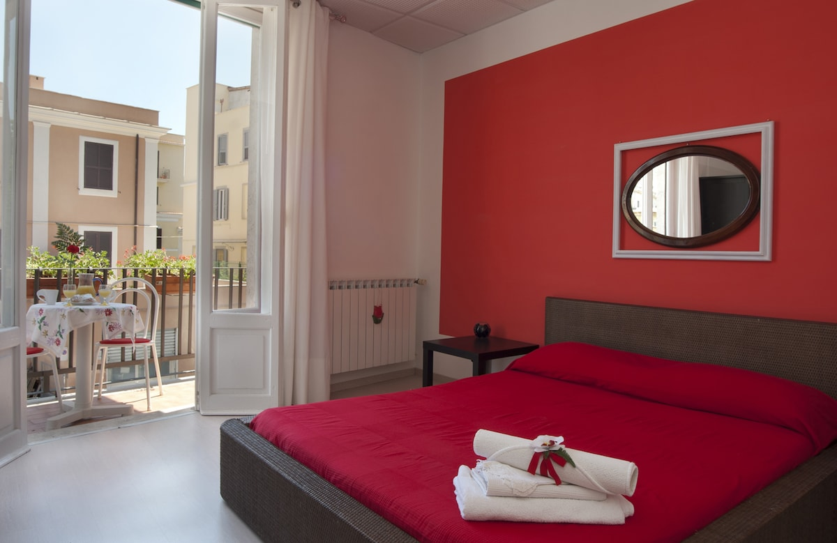 Camera rossa Sleeping Tivoli B&B