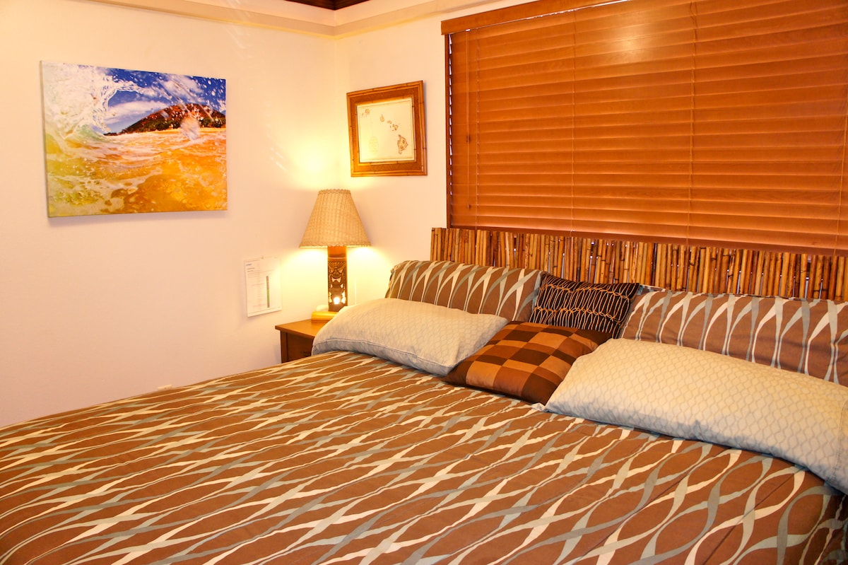 Your Bedroom Features a King Sized Bed!