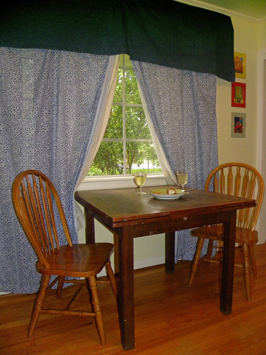 Dinette area with room for up to four, located in den/kitchenette