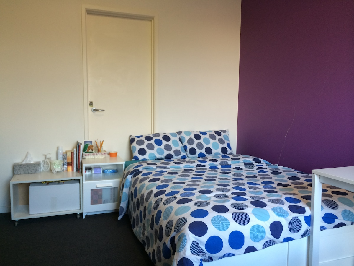 Purple room in Quest Flemington